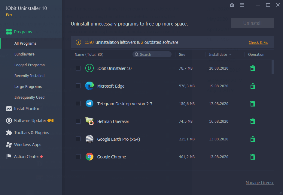 IObit Uninstaller Pro 10.2.0.13 Full Version